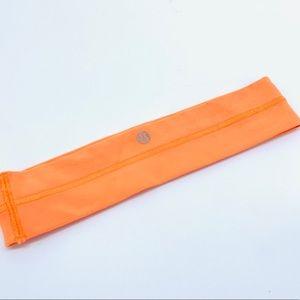 LULULEMON NEON orange Elastic HEADBAND